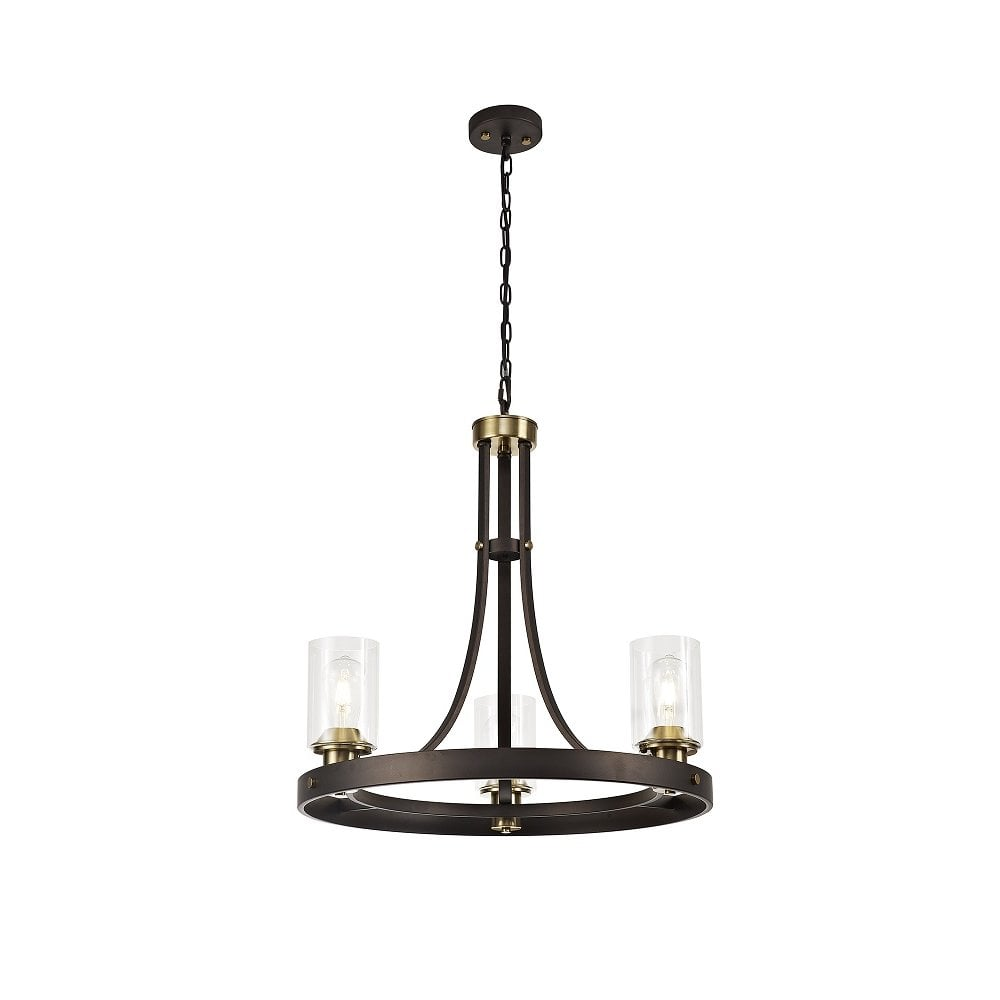 CROWN traditional medieval style hoop chandelier with 6 candle lights