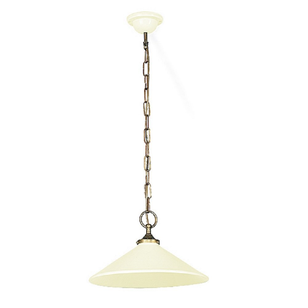 Ceiling Lights Pendant : French made cream ceramic ceiling pendant light on long chain