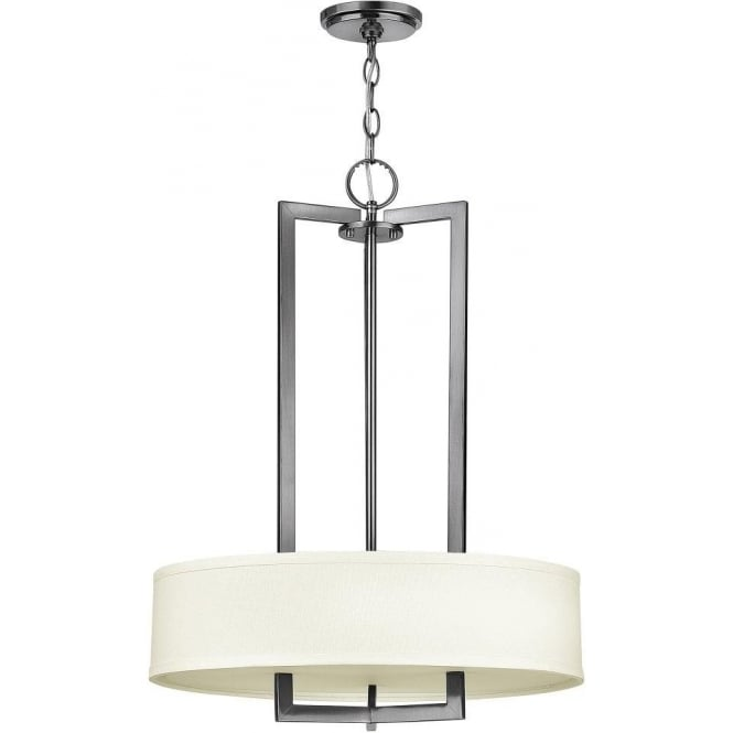 Large Art Deco Ceiling Light Or Chandelier Nickel With White Shade
