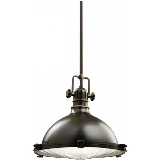 wholesale dealer c856e 76a12 HATTERAS BAY medium ceiling pendant, industrial style in olde bronze