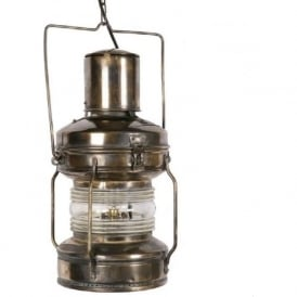 ANCHOR LAMP replica Victorian nautical ship lantern in antique finish