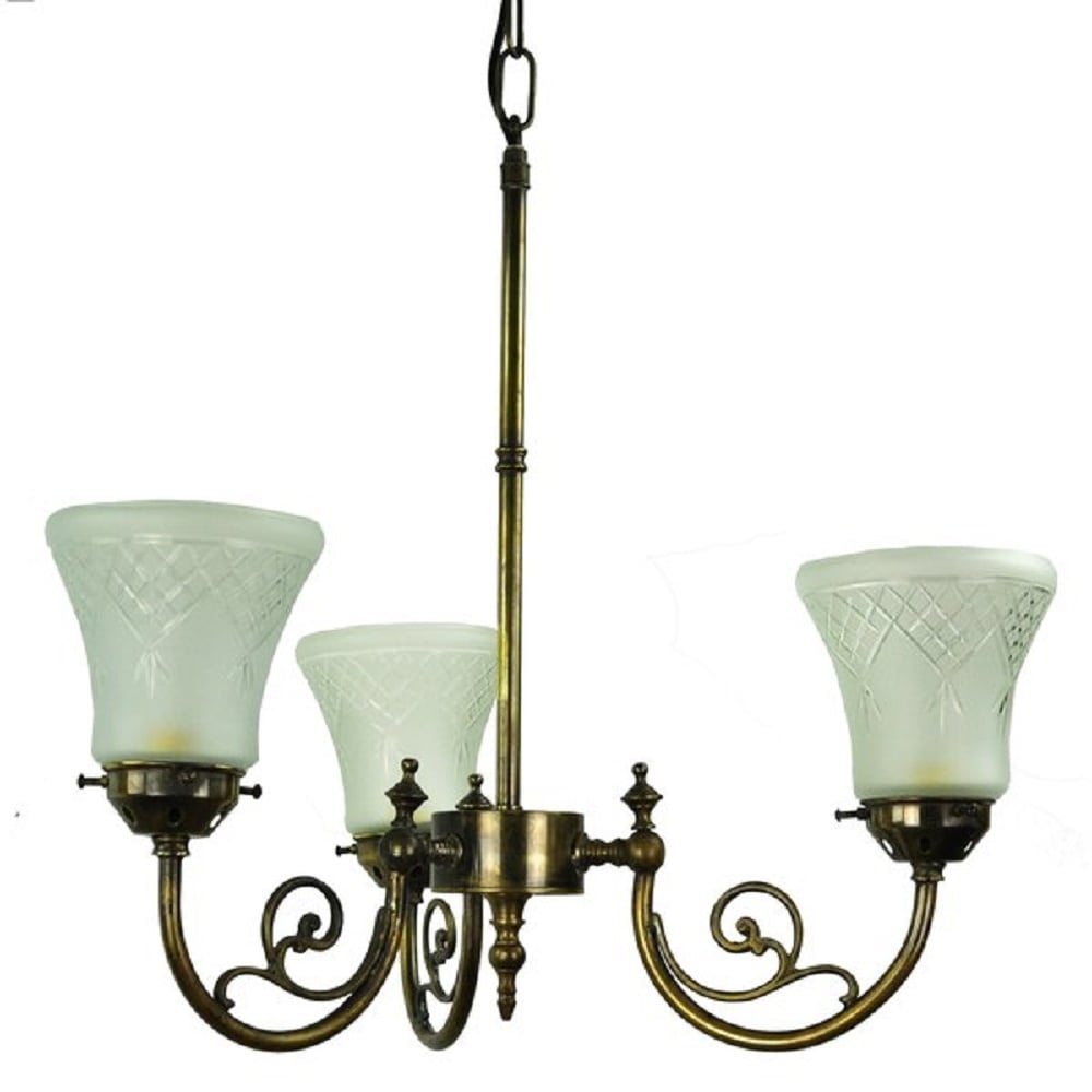Bayswater 3 Arm Ceiling Pendant Light In Traditional