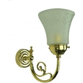 BAYSWATER Victorian style single wall light with cut glass shade