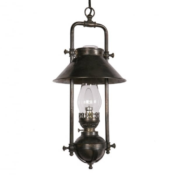 Hanging Lamp That Drips Oil: Victorian Replica Oil Lamp Ceiling Pendant, Nautical