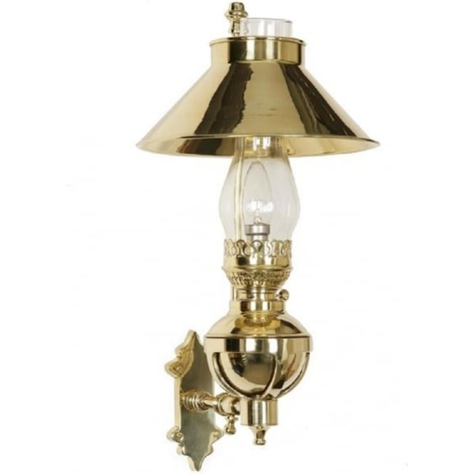 Victorian Captains Wall Light Replica Oil Lamp In Solid