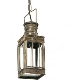 CARGO LAMP antique finish Victorian hanging lantern (small)