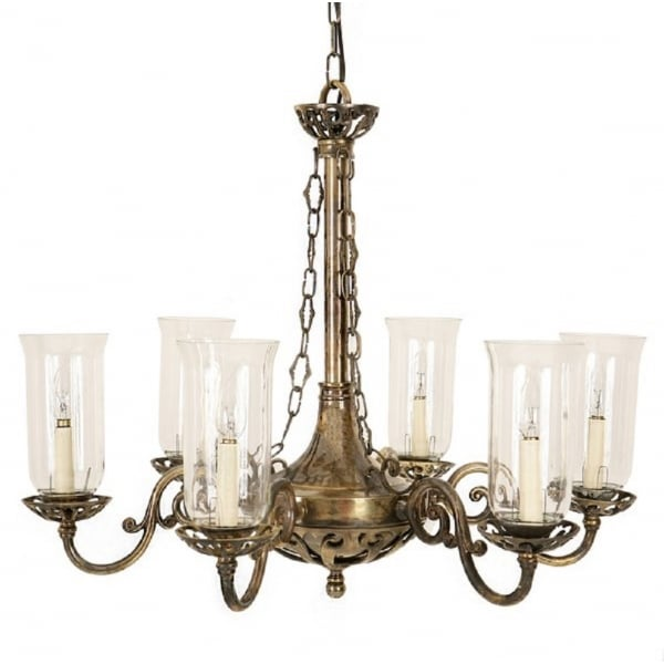 Empire Edwardian Hanging Ceiling Chandelier With Storm
