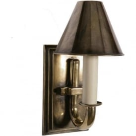 ETON antique candle style wall light with metal shade