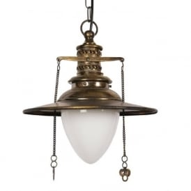 EUSTON railway station hanging ceiling pendant light in antique finish