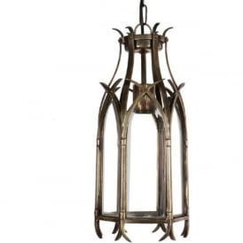 GOTHIC small traditional Medieval hanging lantern in antique finish