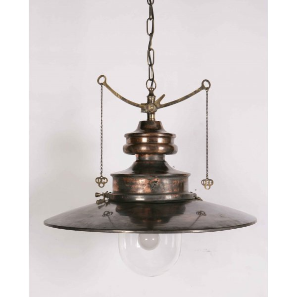 Traditional Railway Pendant Light From Victorian And
