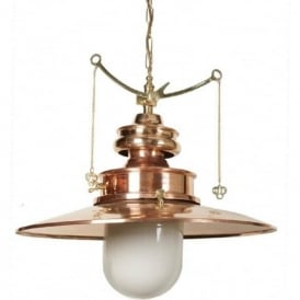 PADDINGTON large Victorian station lamp pendant light - polished brass