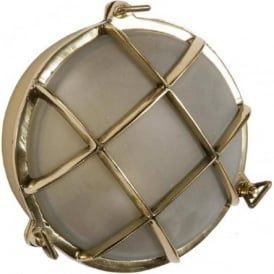 SHIPS BULKHEAD flush fitting circular nautical wall or ceiling light (small)