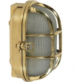 SHIPS BULKHEAD flush fitting oval nautical wall or ceiling light (small)