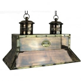 SMITHY'S traditional Victorian metal kitchen island light - antique brass