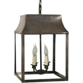STRATHMORE traditional aged brass hanging hall lantern   largeArts and Crafts Style Lights  Quality Hand Crafted Nostalgic Lights. Hall Lighting Uk. Home Design Ideas