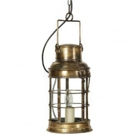 WATCHMAN'S LAMP Victorian or Edwardian replica hanging pendant lantern (antique)