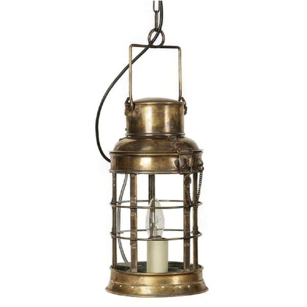Traditional Victorian Watchmans Lantern Pendant in Light ...