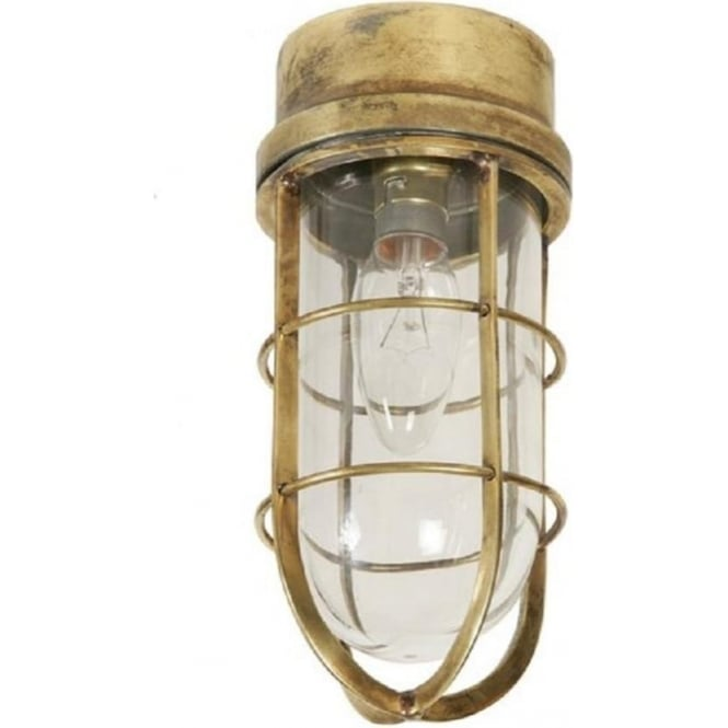 Flush fitting nautical ceiling light in antique finish wheelhouse flush fitting nautical ceiling or wall lamp aloadofball Images