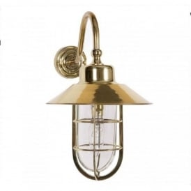 WHEELHOUSE nautical style brass exterior wall light