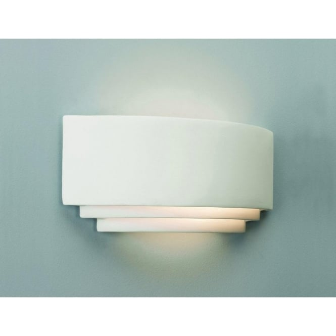 White plaster wall washer wall light that can be painted amalfi double insulated paintable white ceramic wall light aloadofball Gallery