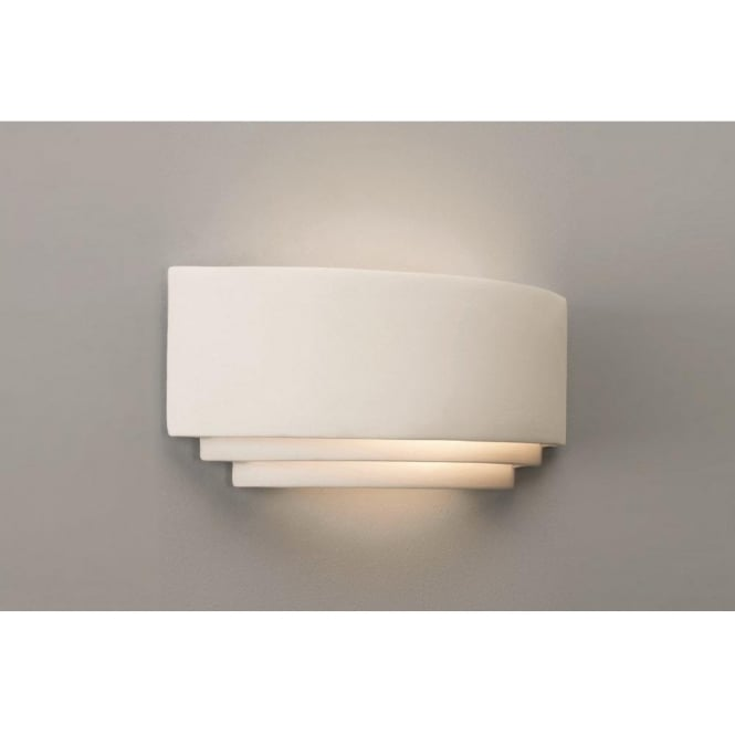 Low Energy Paintable Ceramic Plaster Wall Light, Ideal for Hotel Rooms
