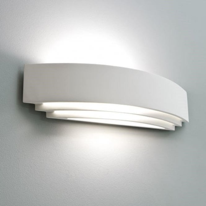 low energy white ceramic wall washer light fitting that can be painted. Black Bedroom Furniture Sets. Home Design Ideas
