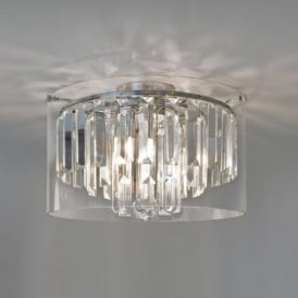 ASINI flush fitting bathroom chandelier, IP44