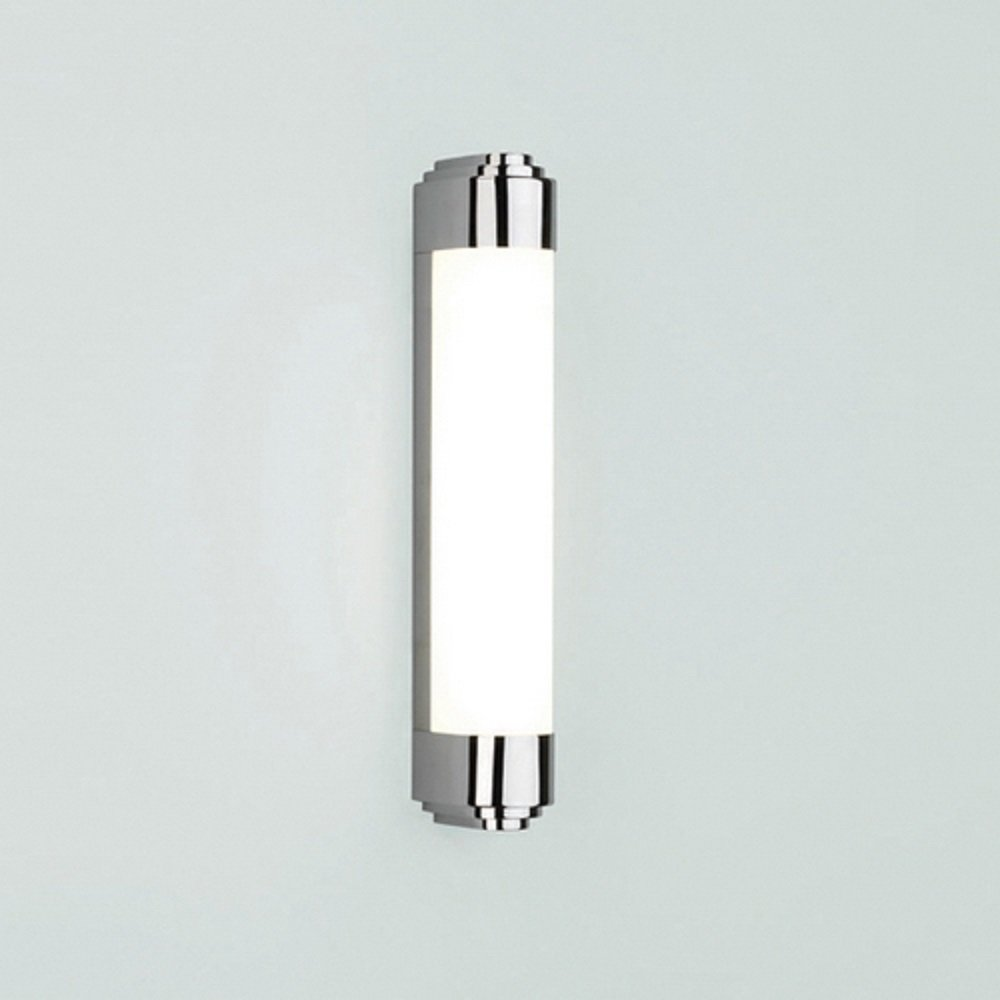 Low energy art deco style bathroom wall light with chrome - Art deco bathroom lighting fixtures ...