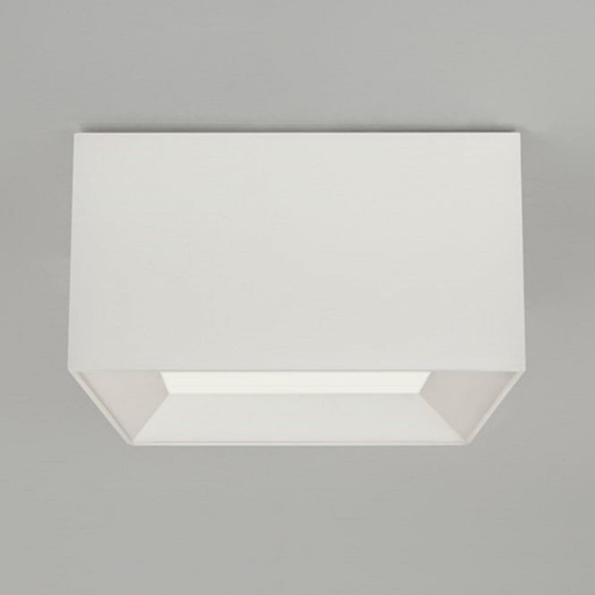 Square flush fitting ceiling light with white fabric shade bevel flush fitting ceiling light with white square fabric shade mozeypictures Gallery
