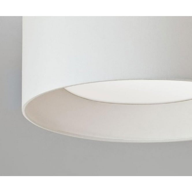 Large flush fitting ceiling light with round white fabric shade bevel large flush fitting ceiling light with circular white fabric shade aloadofball Choice Image