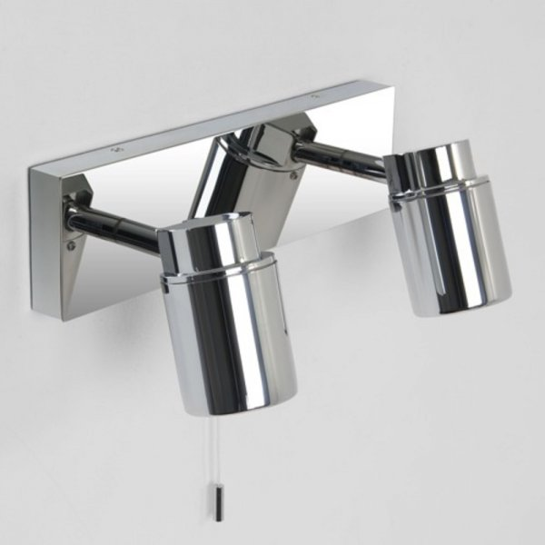 IP44 Modern Chrome Bathroom Wall Spotlights for Using Over Mirror