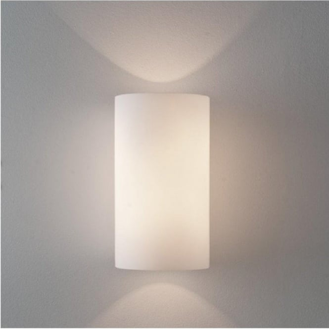 White cylindrical glass wall light from hotel lighting collection cyl contemporary cylindrical wall light with white glass shade medium aloadofball Gallery