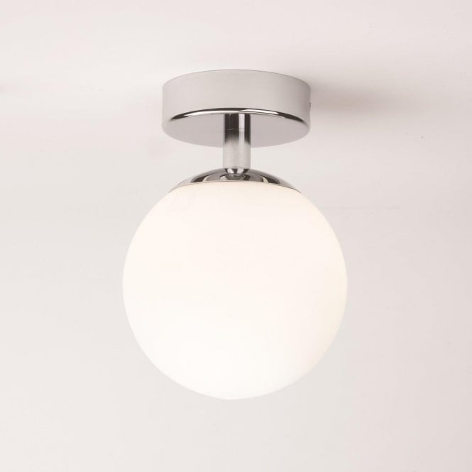 Glass Globe IP44 Bathoom Ceiling Light Fitting For Zones 1