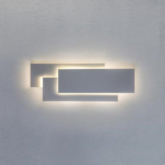 Led white wall panel light in contemporary design very low energy edge contemporary white panel wall light aloadofball Images