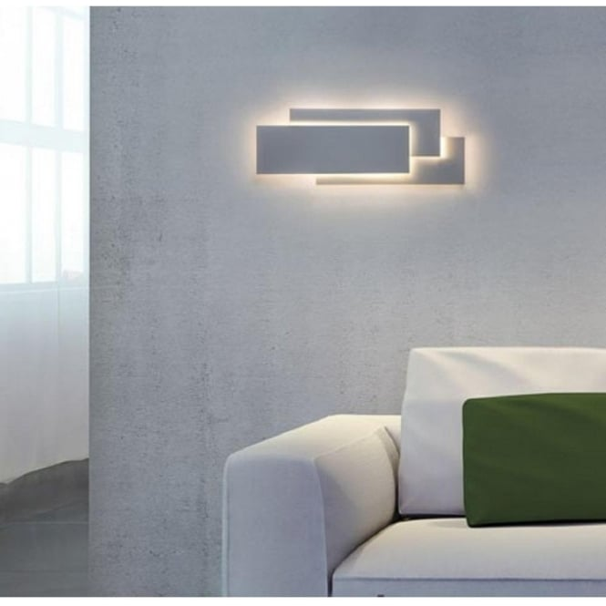 Led white wall panel light in contemporary design very low energy edge contemporary white panel wall light aloadofball Image collections