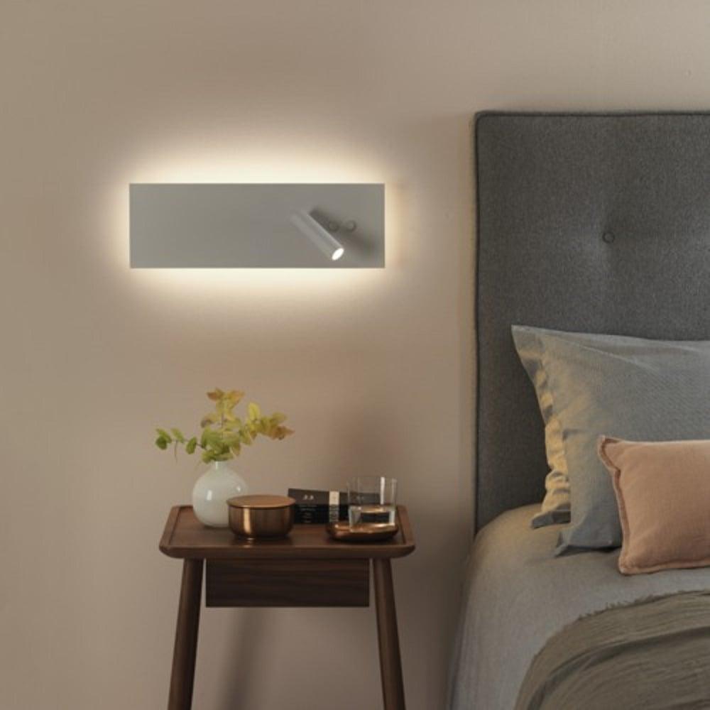 hotel bedroom lighting. EDGE Modern Hotel Style LED White Panel Wall Light With Book Reading Bedroom Lighting
