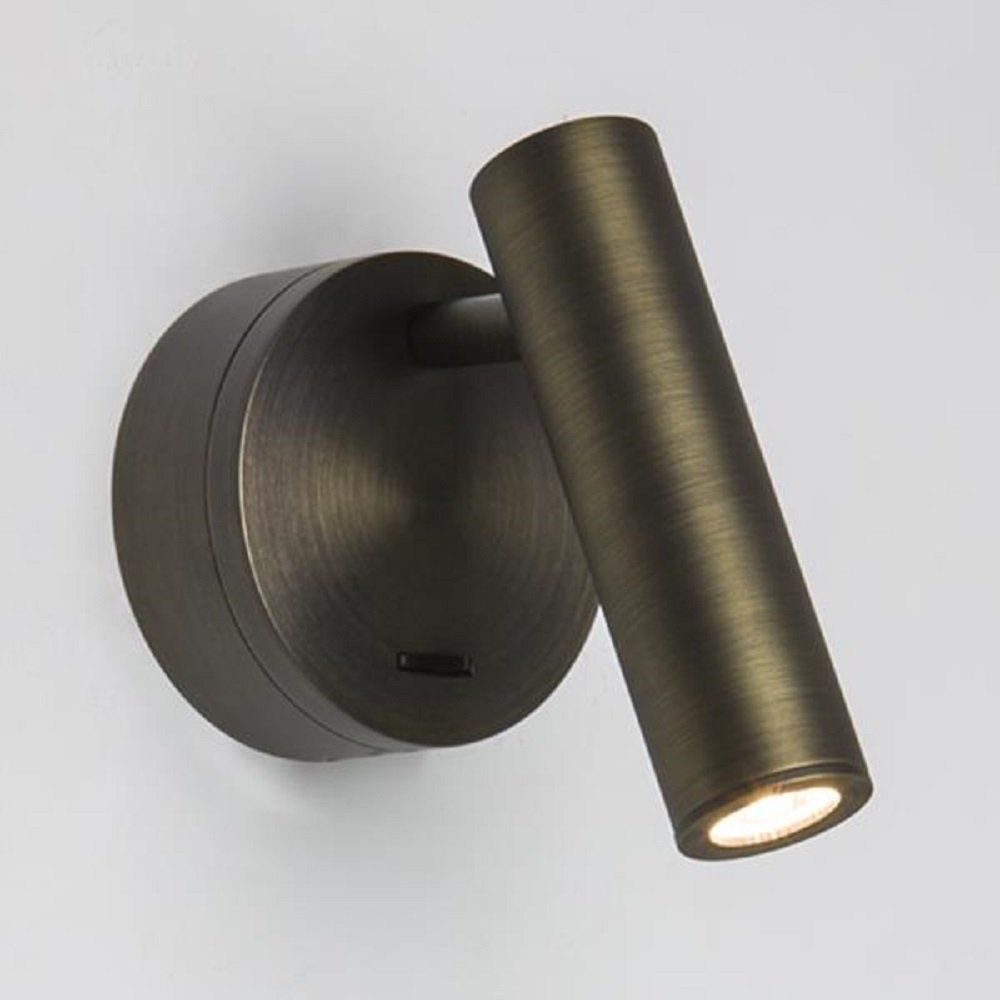 Over Bed Led Book Light Bronze Finish With Integral Switch