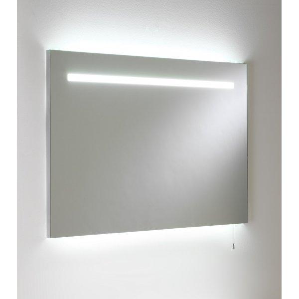 Bathroom Mirror Lights Uk: Illuminated Bathroom Mirror With Low Energy Bulb And Pull
