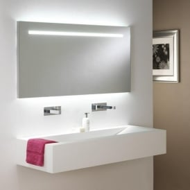FLAIR large illuminated low energy bathroom mirror with pull switch