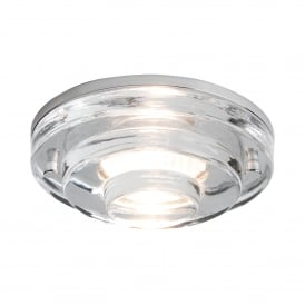 FRASCATI IP65 recessed bathroom downlight with round layered glass shade