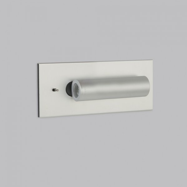 Recessed Wall Reading Lights : Hotel Style Book Reading Light with LED Bulb in Choice of Finishes