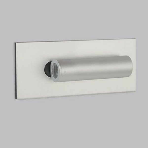 Recessed Wall Reading Lights : Fuse LED Recessed Book Reading Light in Silver Aluminium Finish