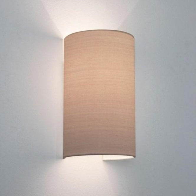 Fabric Wall Lighting : Oyster fabric wall light will wash walls with warm pools