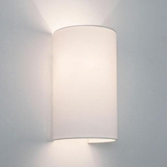 Cylindrical Tube White Fabric Wall Light Will Wash Walls