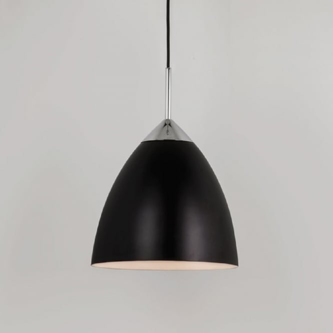 Imperial Hotel Lighting JOEL double insulated large black metal ceiling pendant