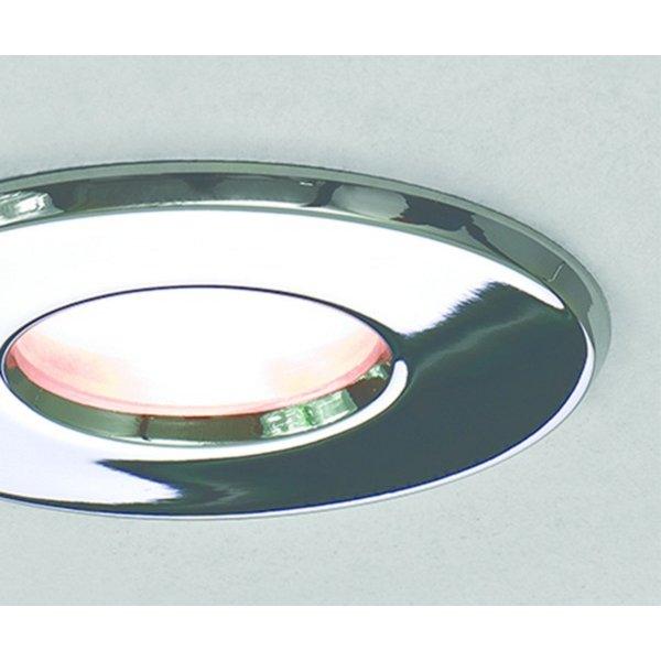Low Voltage Bathroom Lighting: Chrome Recessed Bathroom Ceiling Light, Low Voltage IP65