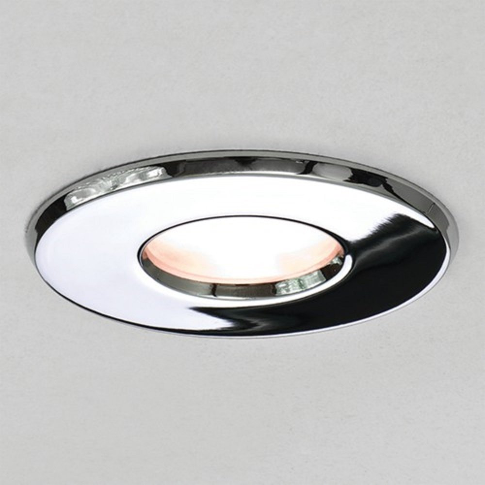 chrome recessed bathroom downlight fire rated ip65 for zone 1 and 2. Black Bedroom Furniture Sets. Home Design Ideas