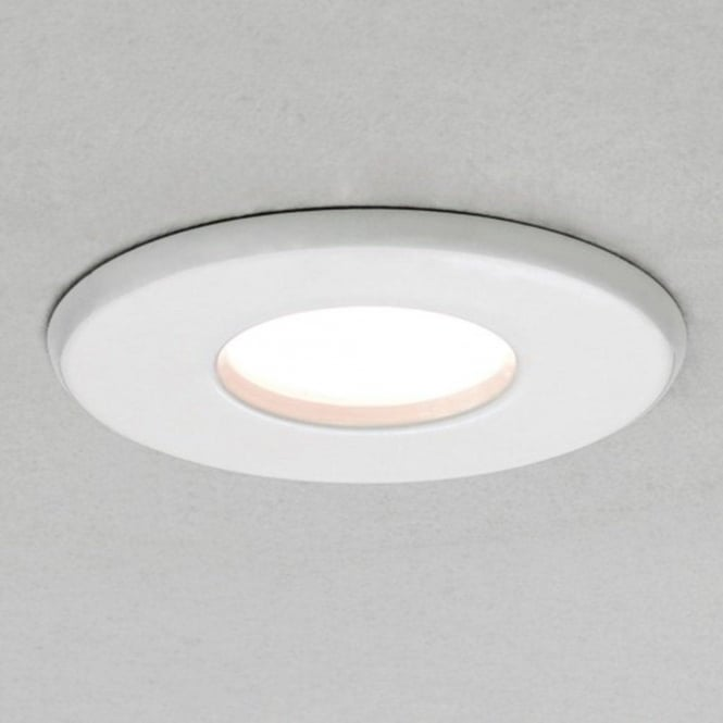 Imperial Hotel Lighting KAMO fire rated IP65 white recessed bathroom downlight - mains voltage