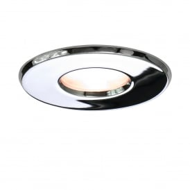 KAMO IP65 chrome recessed bathroom downlight - mains voltage